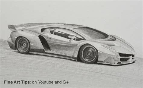 Drawing A Lamborghini How To Draw A Lamborghini Veneno