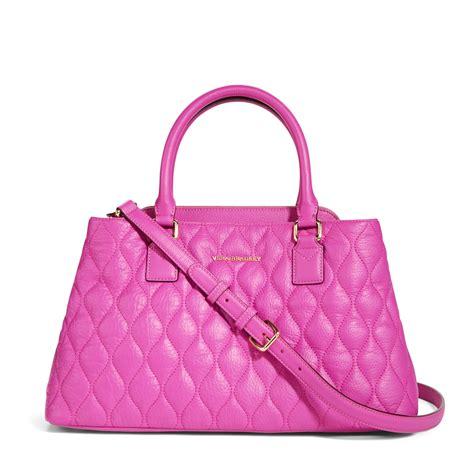 Vera Bradley Quilted Handbags by Vera Bradley Leather Quilted Satchel Bag Ebay