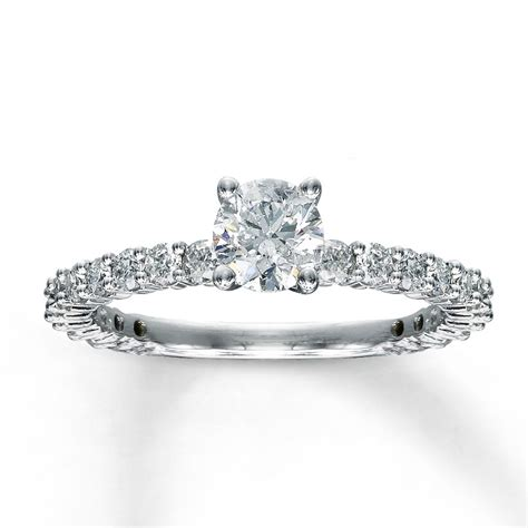 1 carat eternity engagement ring in white