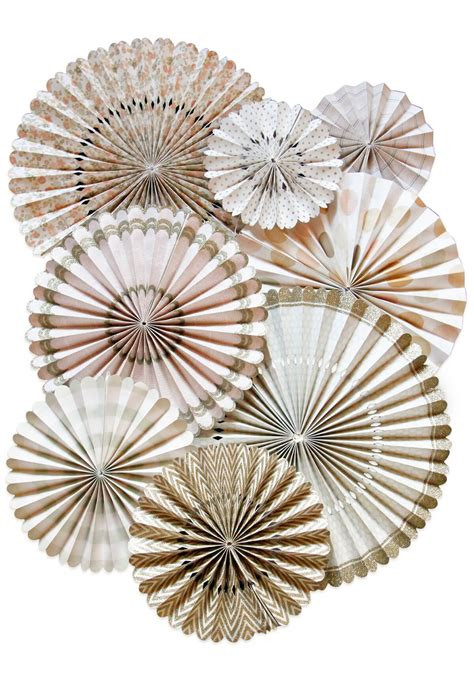 Paper Rosettes - paper rosettes vintage set of 8