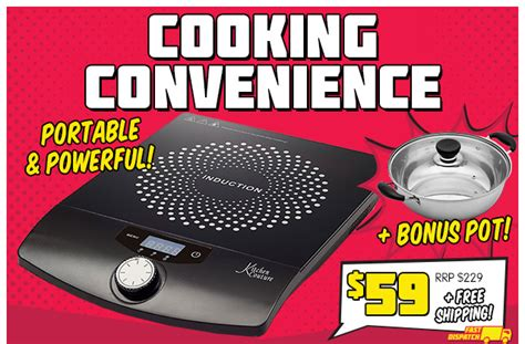 induction cooker technology 2000w induction cooker bonus pot 74 rrp deals and coupons best bargains