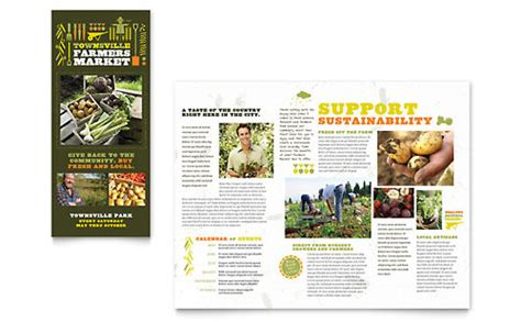 agriculture brochure templates agriculture farming templates brochures flyers