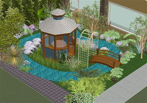 home design 3d landscape design 3d creating your 3d tropical garden plan thai garden design