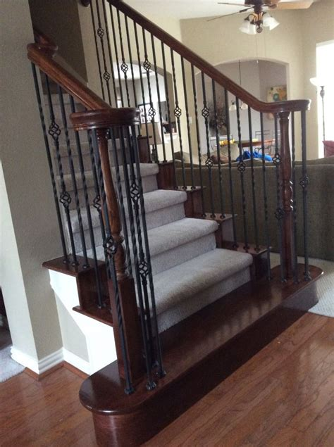 banister railing home depot iron balusters endecor iron stair baluster idea photo