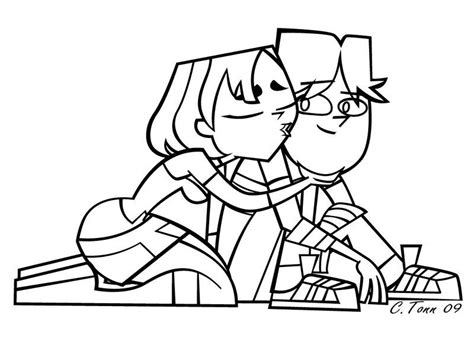 Cody And Gwen Line Art Total Drama Island Photo Total Drama Island Coloring Pages