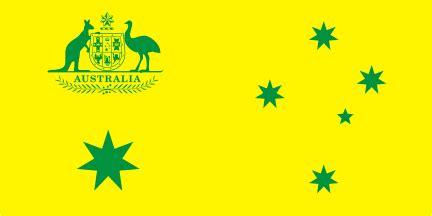 green and gold australian national flag variant