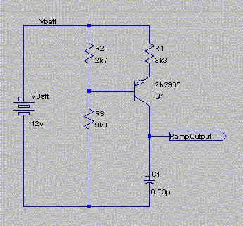 charging capacitor constant current source receive signal decoder