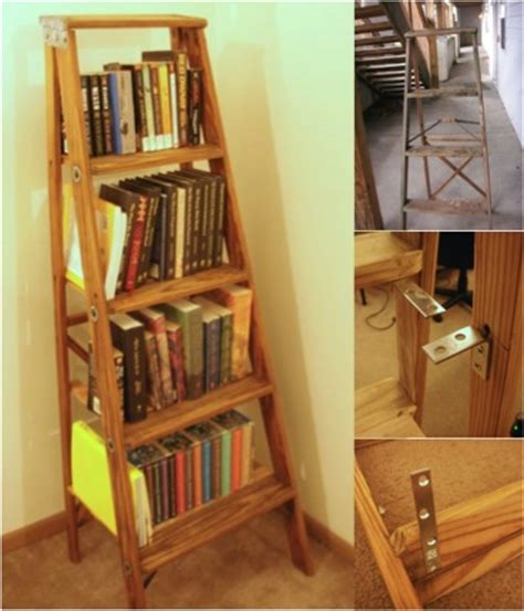 charming diy ladder bookshelf do it yourself ideas