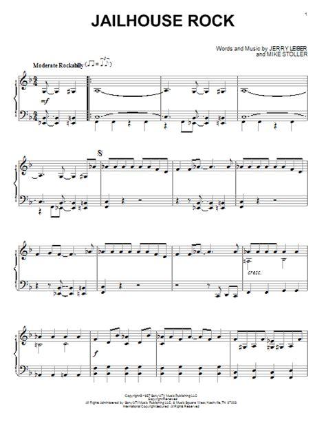 printable lyrics to jailhouse rock jailhouse rock sheet music by elvis presley piano 153922