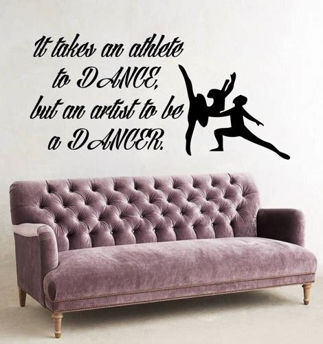 Nusery Wall Stickers ballet wall decal dance man woman dancers wall decals