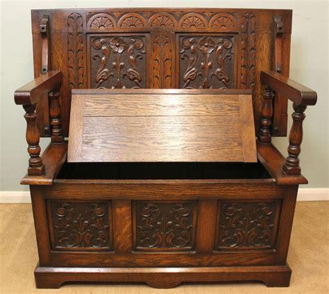 monks bench uk antique oak box settle monks bench hall seat 276754