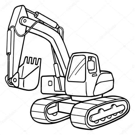 mini excavator coloring pages ilustraci 243 n de dibujos animados de excavadora aislado en