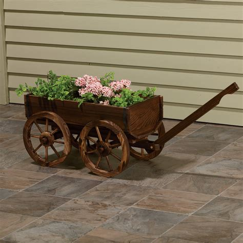 planter design stonegate designs wooden wagon planter model xl103 northern tool equipment