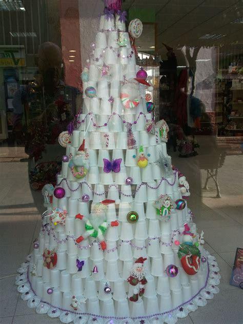 vasos arbol navidad un 225 rbol de navidad de vasos de papel www farmagestion 2 trees