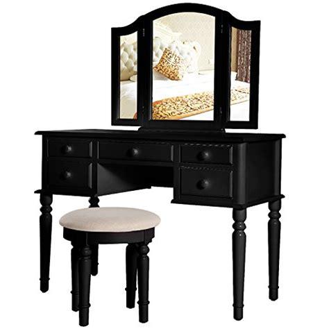 black bedroom vanity table merax vanity set w stool make up dressing table bedroom