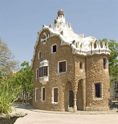 casa candy house at park guell looks like a house made of candy