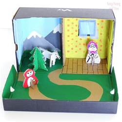 Home Decor Recycled Materials story box shoe box craft easy peasy and fun