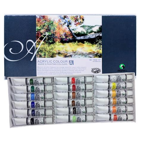 Acrylic Maries maries acrylic color painting set 18col x 12ml acrylic painting supplies