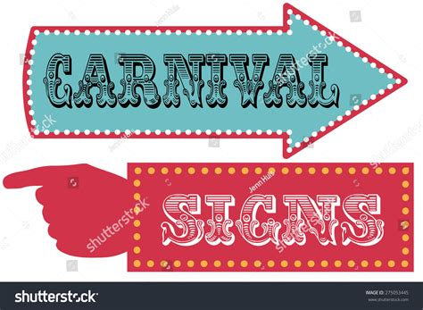 Direction Signs Template Carnival Sign Template Direction Signs Arrow Stock Vector 275053445 Shutterstock