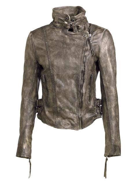 muubaa leather jackets flax leather biker jacket in army grey muubaa from muubaa uk