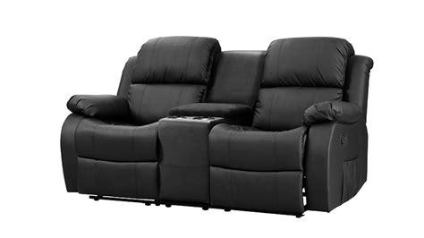 sofa 2 sitzer mit relaxfunktion sofa mit tea table lakos 2 sitzer kinosofa schwarz