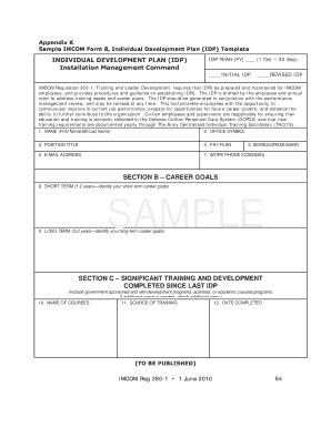 army idp template fill online printable fillable