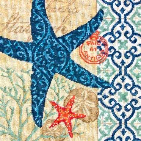 dimensions needlepoint kit starfish pillow ebay