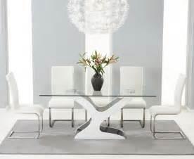 Gloss Dining Table Orsini Black White Gloss Dining Table Oak Furniture Solutions