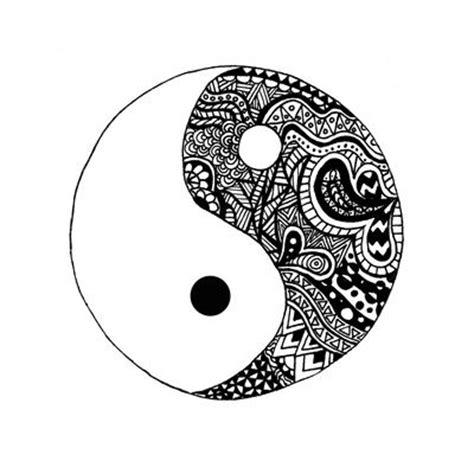 yin yang pattern mountains through the trees art print coloring circles