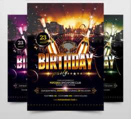 birthday poster template birthday poster template 17 free psd eps in design