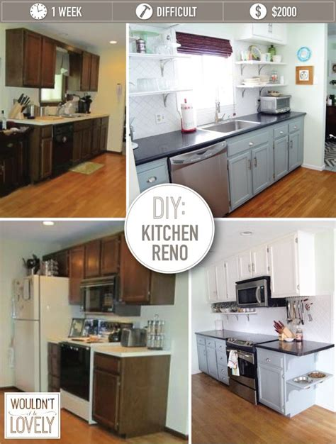 Countertops Reno by Diy Small Budget Kitchen Renovation Kitchen Reno Paint