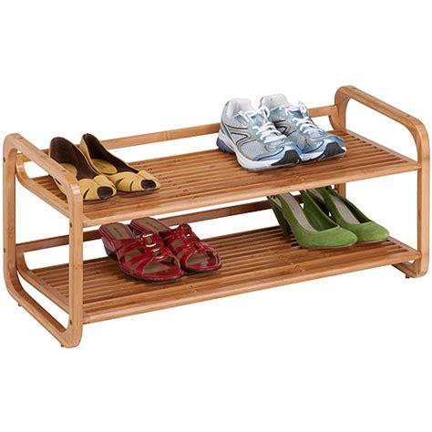 Shoe Shelf Walmart by Honey Can Do 2 Tier Stackable Bamboo Shoe Shelf Walmart