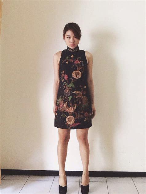Dress Baju Tenun Elegan Limited widjaja soka mini batik cheongsam dress season lookbook