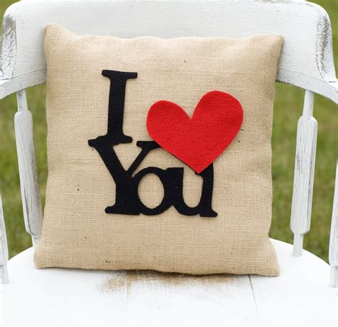 Sale Bantal Tiup Cing C Pillow i you decorative felt i you burlap pillow 14x14 photography prop by lollipoppillows