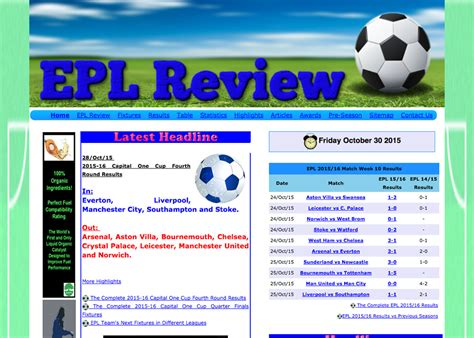 epl table malaysia epl review malaysia website awards 2015