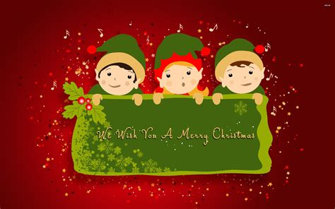 wallpaper christmas elf we wish you a merry christmas wallpaper