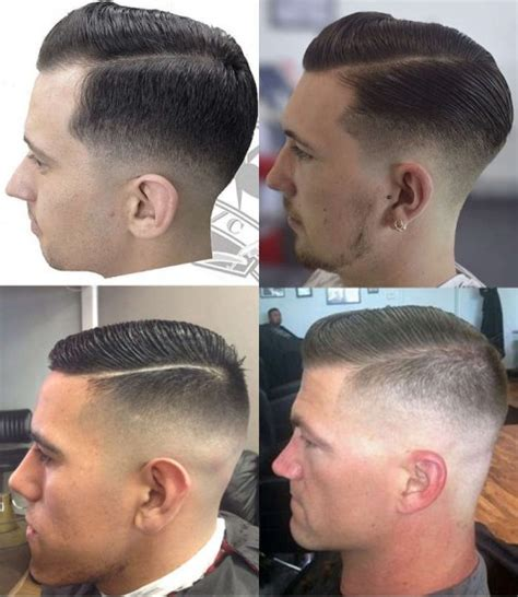 military haircut side part men the regulation cut practical and appropriate