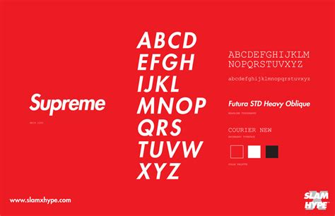 Supreme Text Box the fonts of fashion design news paste