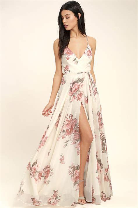 Maxi Flowery Dress lovely floral print dress wrap dress maxi dress