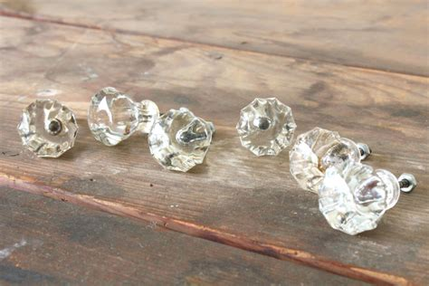 Vintage Glass Dresser Knobs by Vintage Glass Drawer Knobs Dresser Pulls By Forgottenplum
