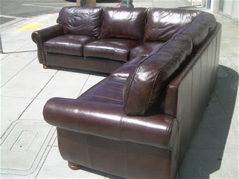thomasville leather sectional uhuru furniture collectibles sold thomasville leather