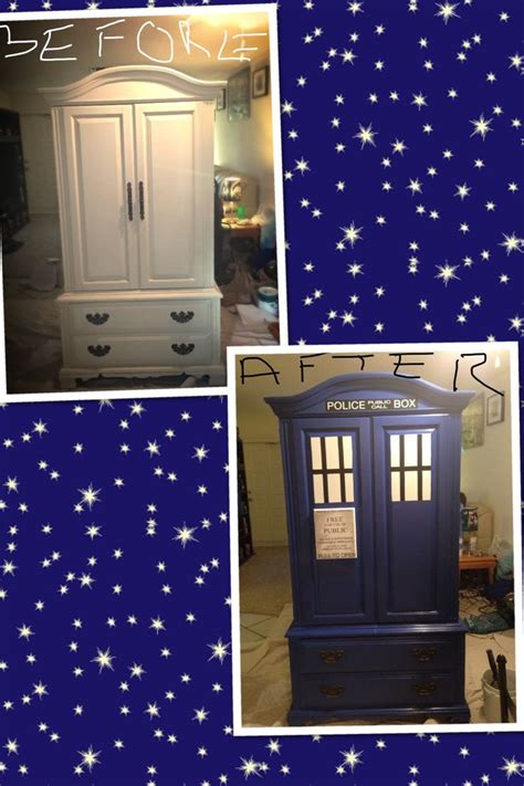 tardis couch diy armoire turned tardis homade ideas diy ideas