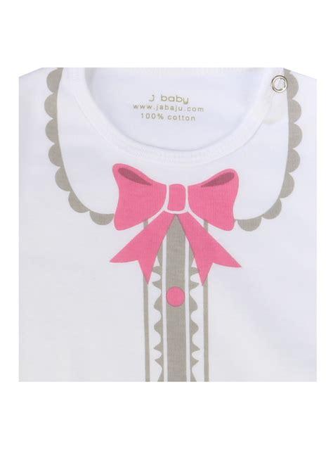Bodysuit Putih j baby pita pink bln pcs klikindomaret