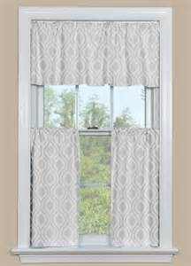 Grey Kitchen Curtains Retro Kitchen Curtains In Grey Ogee Design