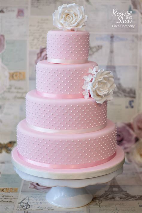 Pink Wedding Cake by Pink Wedding Cake By Rosie Shaw Bristol