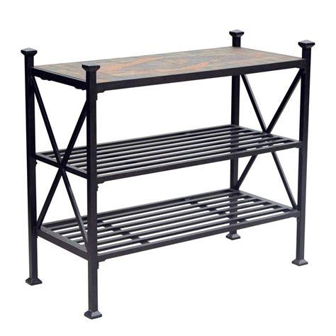 slate top patio table slate patio table harbor slate tile top outdoor table