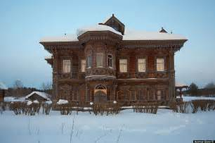 home in russian abandoned wooden houses