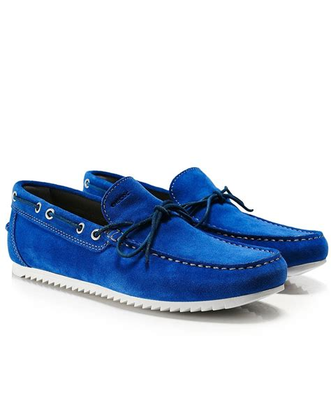 boat shoes geox geox royal blue suede shark boat shoes jules b