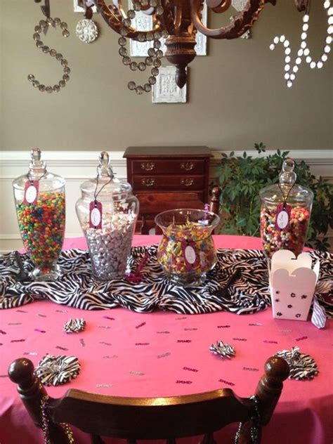 party themes for 13 year olds candy bar set up for 13 year old birthday party birthday