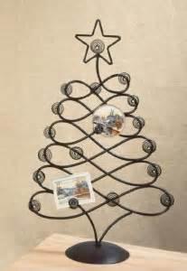 metal table top card photo tree holder christmas card